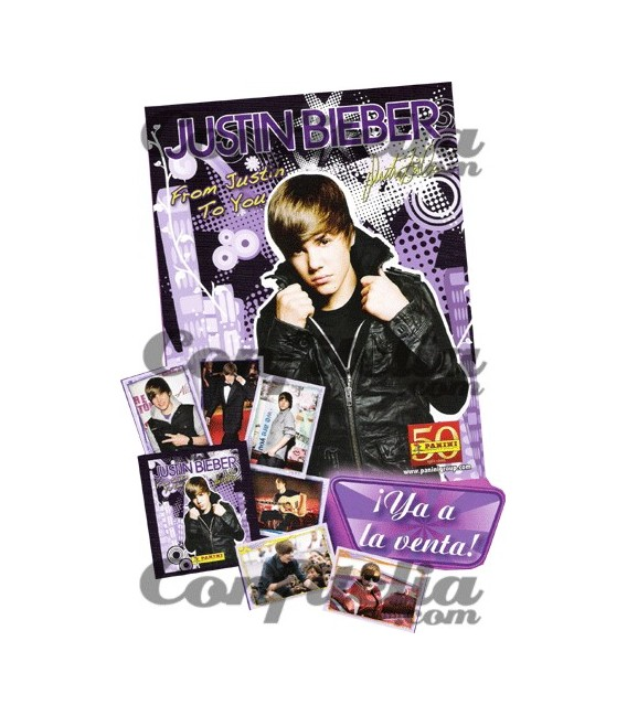 Panini's Justin Bieber sticker collection