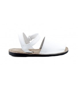 White leather Menorcans Quinas