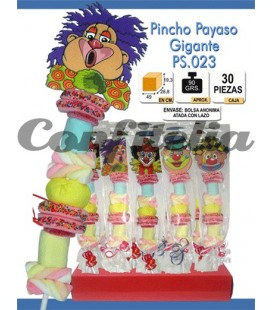 Assorted sweets lollipops Clown