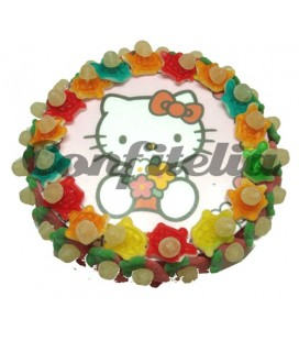 Tarta de gominolas Hello Kitty 500 grs.