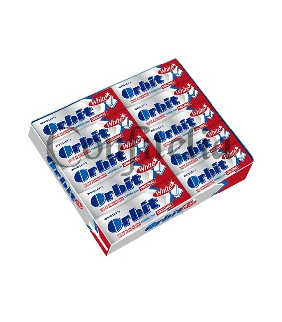 Chicle Orbit gragea White Original sin azucar